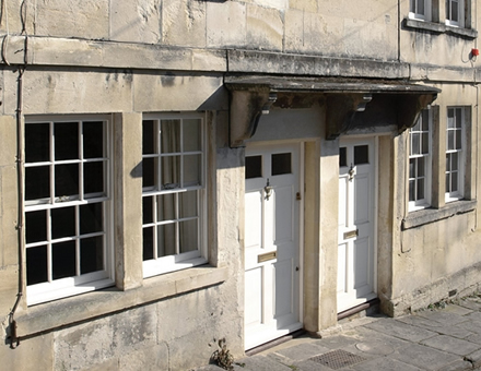 Street of sash windows
